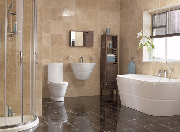 Modern melbourne home bathroom renovations just right for Bathroom designs images