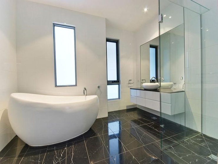 Modern melbourne home bathroom renovations just right - Average cost of a new bathroom 2017 ...